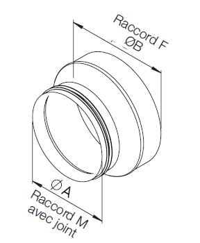 Réduction galva ⌀200F/⌀180M 9457 helios
