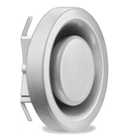 Bouche extraction réglable métal D80
