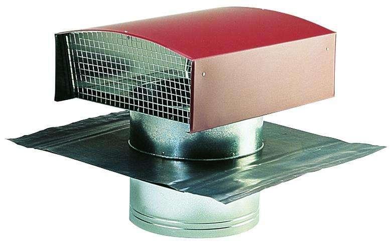 Chapeau de toiture métallique tuile ⌀125