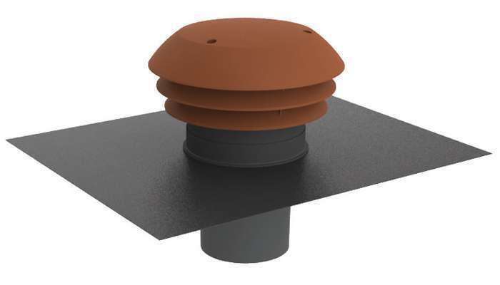 Chapeau de toiture plastique tuile ⌀125