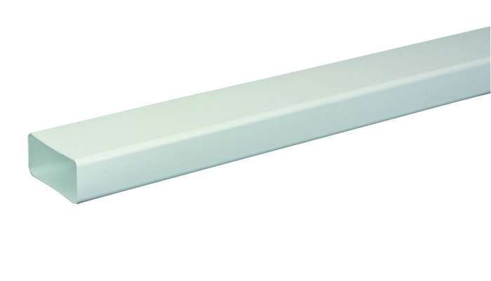 3m Tube rigide rectangulaire 55x110 plastique