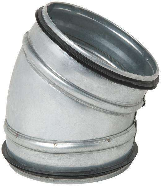 Coude 30° galva diamètre 125 mm