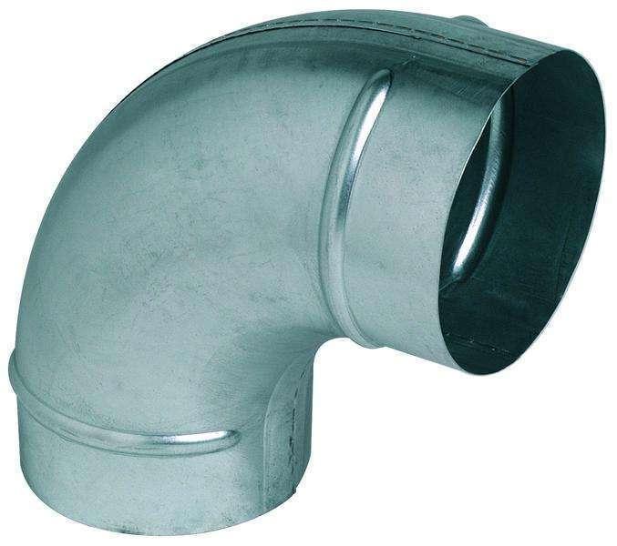 Coude 90° galva diamètre 160 mm