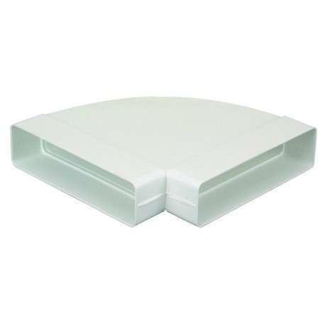 Coude 90° horizontal rectangulaire 55x220 plastique