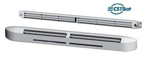 Entrée d'air hygroréglable acoustique compacte + grille-EHC 5/45+G-34 BL-Atlantic-526602