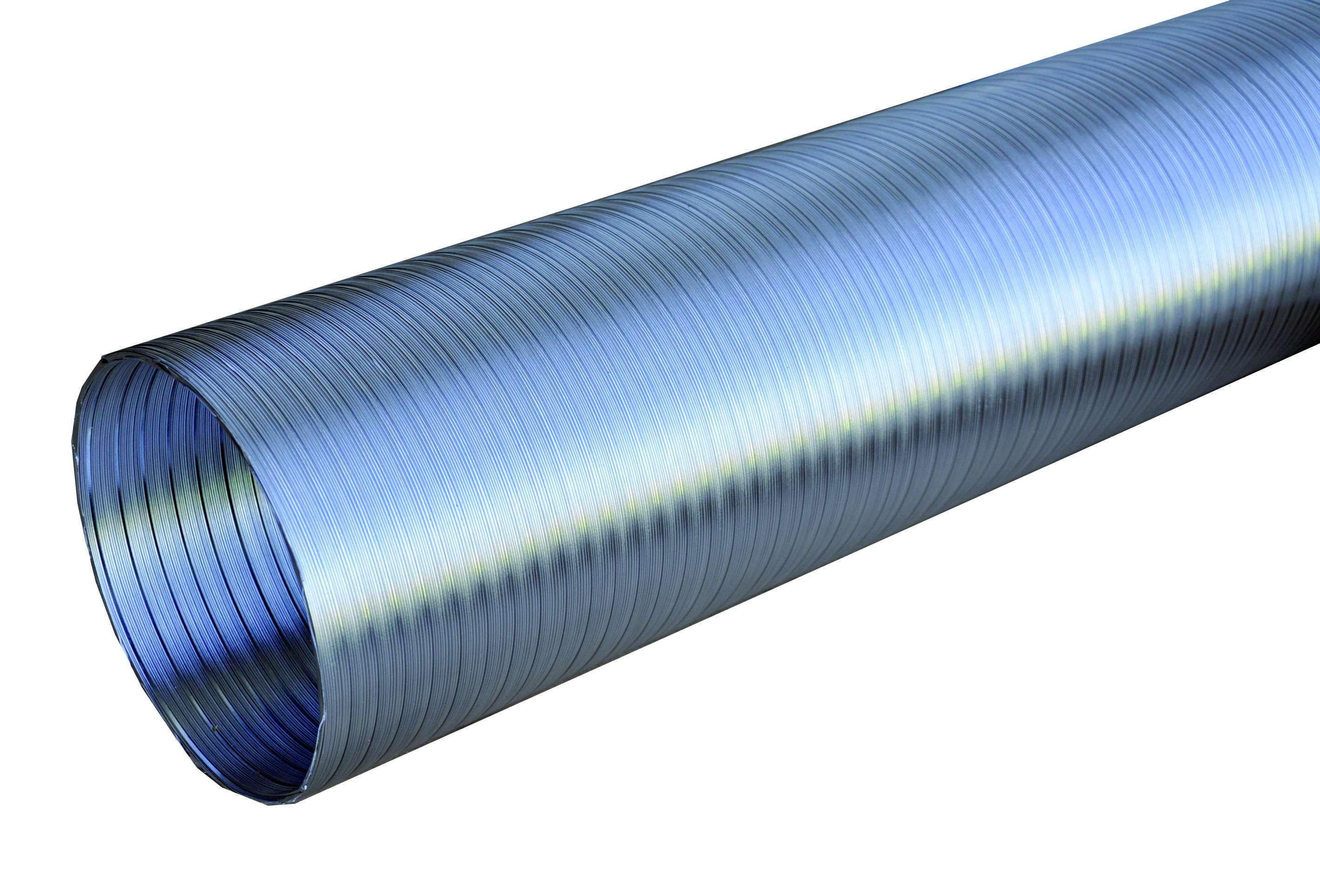Conduit semi-rigide Alu classé A1 D80 longueur 3 M