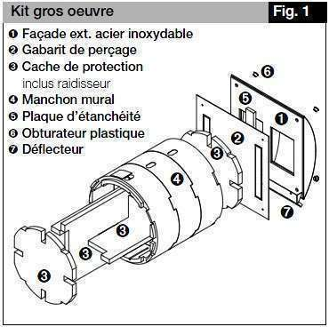 Kit gros oeœuvre pour VMC KWL EC 60 KWL 60 RS