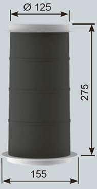 Manchon Plastique de traversée de dalle 125 L 275 mm