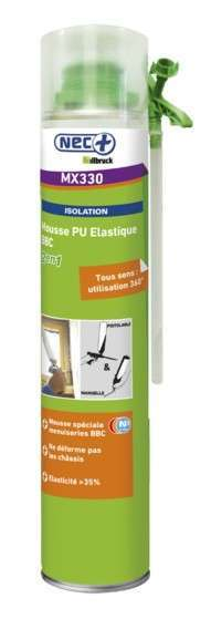 Mousse expansive PU pistolable élastique 750ml