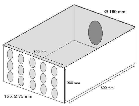 Plenum intermédiaire 15x75-180