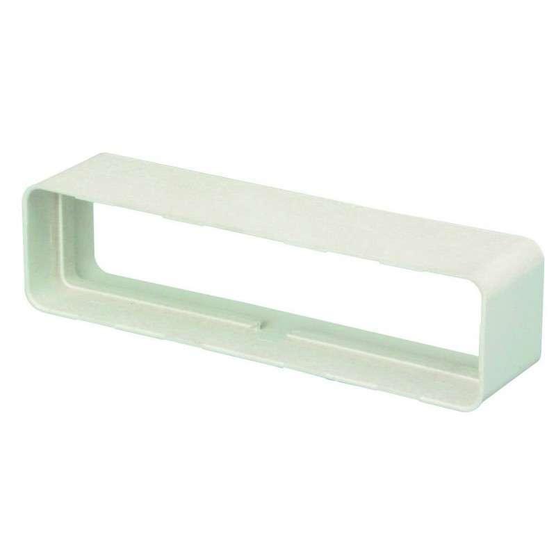 Raccord droit rectangulaire 55x110 plastique