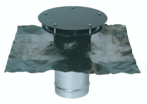 Sortie toiture ronde + plaque de plomb