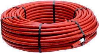 100m Tube PER rouge 10/12