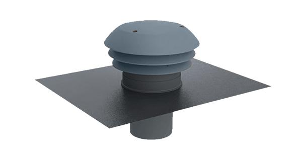 CPR atlantic Chapeau de toiture plastique D125 ardoise 422564