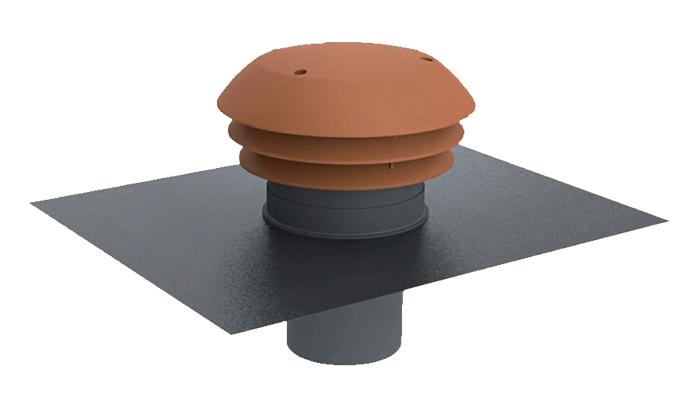 Chapeau de toiture plastique ⌀125 tuile