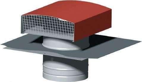 chapeau toiture CT 150/160 tuile Unelvent
