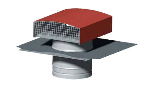 CTR Chapeau de toiture galva ⌀125 Tuile 533160 atlantic
