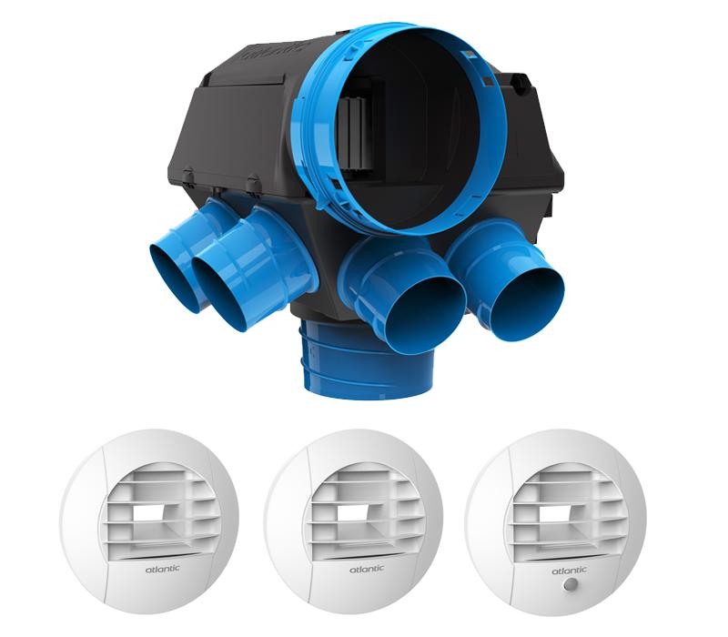 KT HYGROCOSY Kit VMC simple flux hygro à Pile 412292 Atlantic