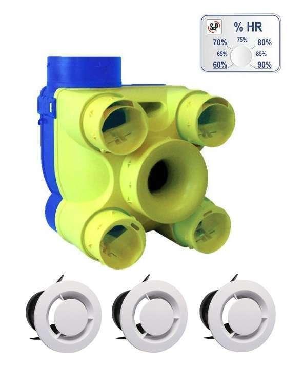 VMC simple flux autoréglable Venturia DHU K Unelvent 603148