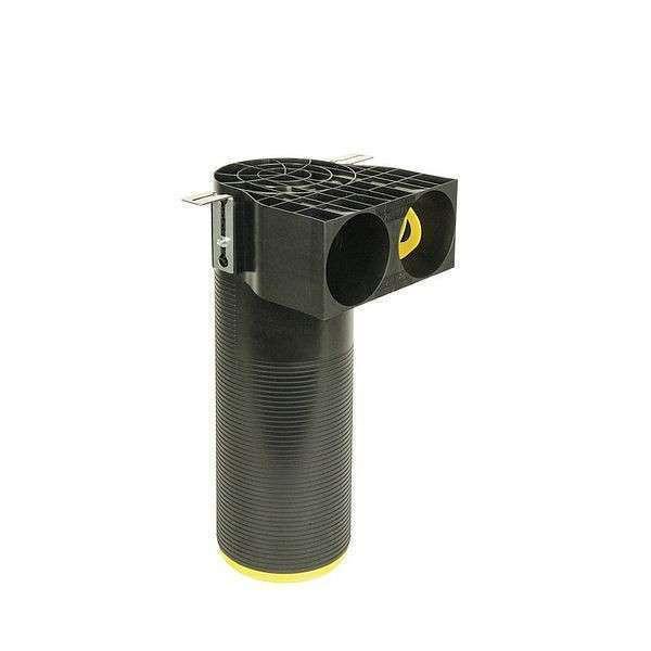 Sortie 90° pour bouche d'aération 2 x Ø 90 mm - DN 125