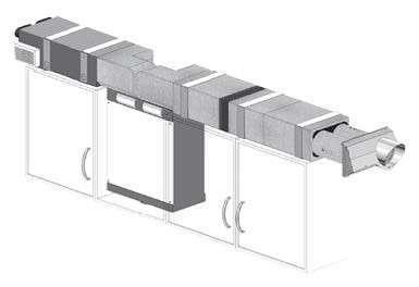 ComfoAir 180 ZEHNDER COMFOSYSTEMS Kit VMC double flux montage horiz. gauche