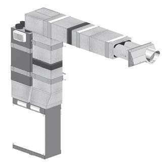 ComfoAir 180 ZEHNDER COMFOSYSTEMS Kit VMC double flux montage vertical droite