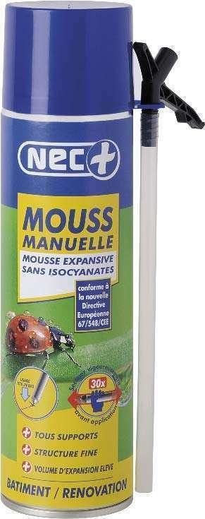 Lot de 12 aérosols mousse expansive manuelle sans isocyanates 500ml STP NEC+