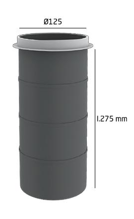 Manchon plastique dalle 125 mm l.275