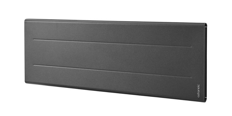 Oniris connecté plinthe 750W GRIS ETOILE Radiateur électrique Bas - 700W - gris  Atlantic Chauffage 503919