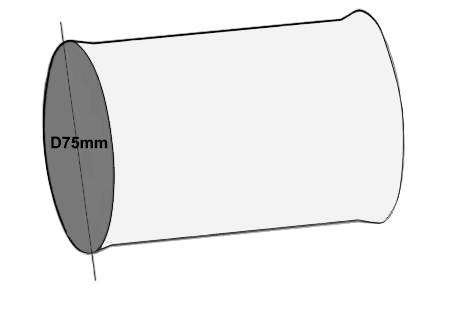Manchon raccord D75 mm RMR-75 econoname