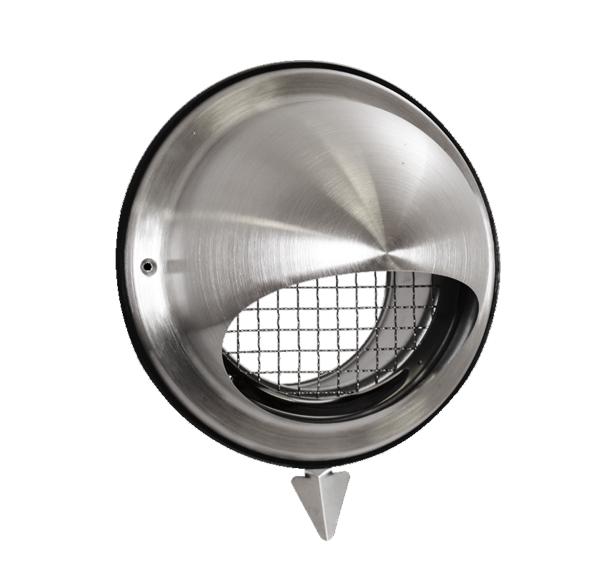 Prise/rejet air VMC inox D200 mm