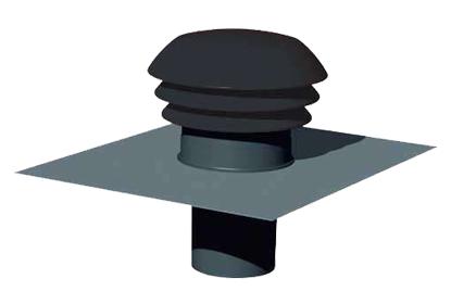 Chapeau de toiture plastique D125 ardoise 422564 atlantic