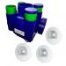 HYGRO ECOWATT Kit VMC simple flux hygroréglable Econoname 3 bouches fond blanc