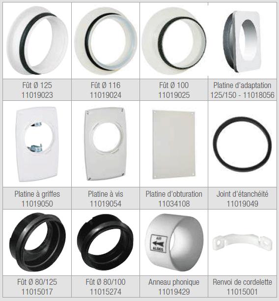 accessoires bouches aldes gamme
