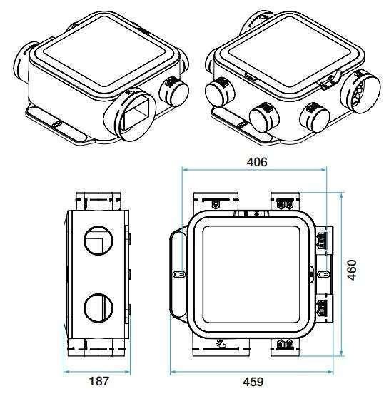vmc simple flux easyhome hygro compact premium mw aldes. Black Bedroom Furniture Sets. Home Design Ideas