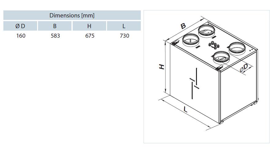 df 350 dimensions vmc