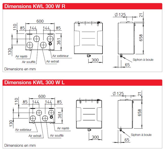 kwl 300 helios dimensions