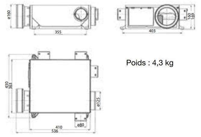 Dimensions MODULO 2 Compact R-Control Nather