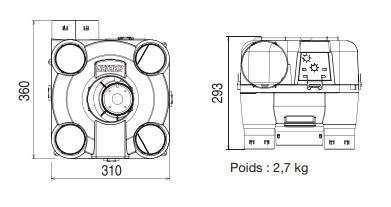 Dimensions MODULO 2 R-Control Nather
