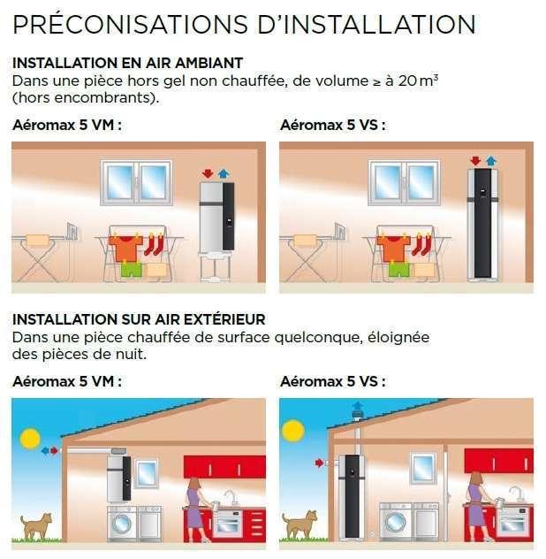 chauffe eau aeromax vs 5 thermor installation