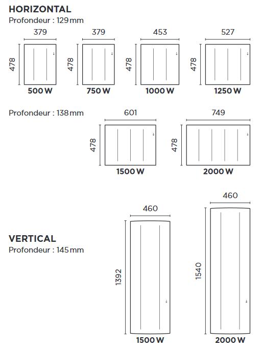 ingenio 3 thermor dimensions