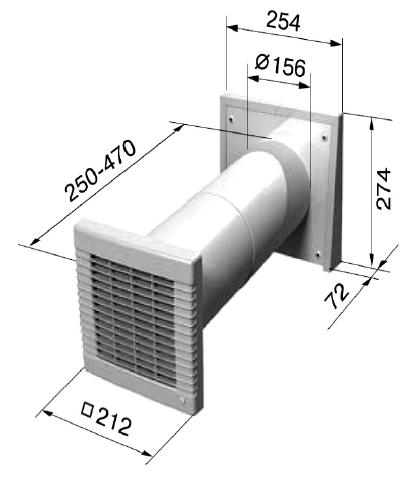 comforeno 50 zehnder dimensions