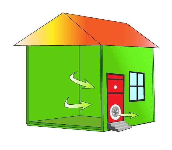 Blower door test d'une maison en kit sur mesure Econology (Vidéo)